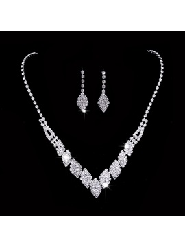 Earrings Gemmed Floral Jewelry Sets (Wedding)