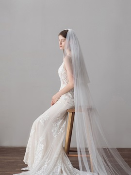 One-Layer Pencil Edge Hollow Wedding Veil 2019