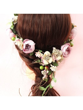 Floral Korean Hairband Hair Accessories (Wedding)