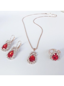 Necklace Gemmed Water Drop Jewelry Sets (Wedding)