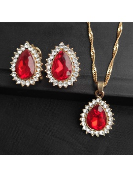 European E-Plating Water Drop Jewelry Sets (Wedding)