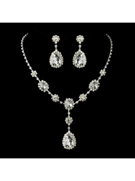 European Necklace Gemmed Jewelry Sets (Wedding)