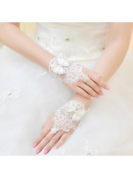 Wrist Lace Wedding Gloves 2019