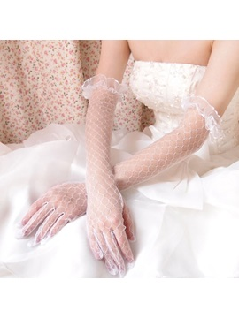 Finger Elbow Lace Wedding Gloves 2019