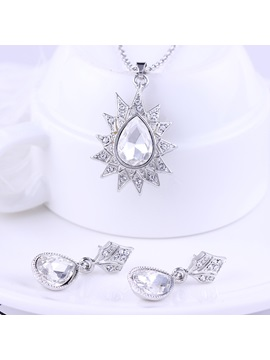 Diamante Earrings European Jewelry Sets (Wedding)