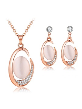 Earrings Geometric Diamante Jewelry Sets (Wedding)
