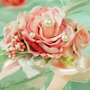Light Pink Silk Cloth Wedding Bridal Wrist Corsage