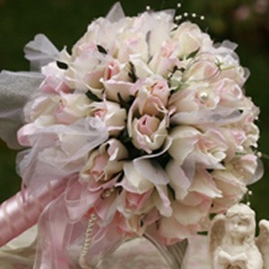 Fantastic Large Pale Pink Silk Cloth Wedding Bouquet for Bride