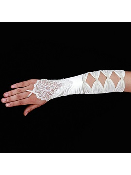 Graceful Long Fingerless Wedding Gloves