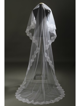 Cathedral Style Lace Wedding Veil