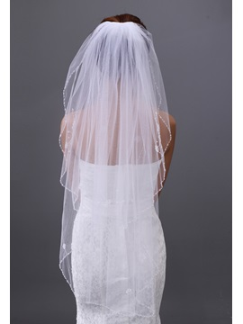 Elegant Tidebuy 2-layer Elbow Wedding Veil