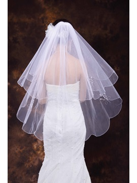 Mid-hip Edge Wedding Veil
