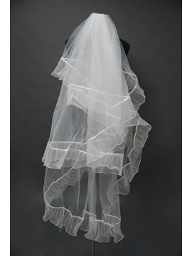 Attractive Tidebuy Blusher Wedding Bridal Veil with Ribbon Edge