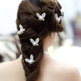 2014 New Gorgeous Butterfly Shape Bride Headwear (For One Piece)