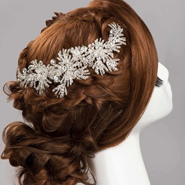 Rhinestone Floral Wedding Hair Flower