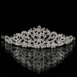 Hot Floral Rhinestone Wedding Bridal Tiara