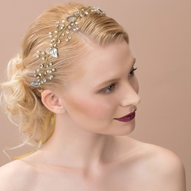 Fashion Rhinestone and Alloy Wedding Headband