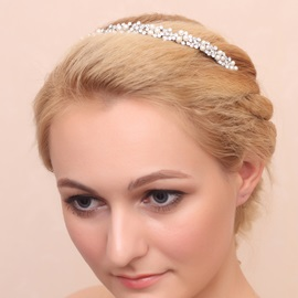 Charming Rhinestone and Alloy Wedding Headwear