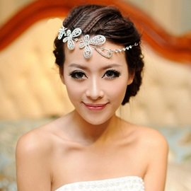 Chic Floral Rhinestone Alloy Wedding Tiara