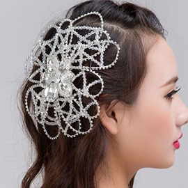 Shiny Handmade Rhinestone Beaded Wedding Tiara