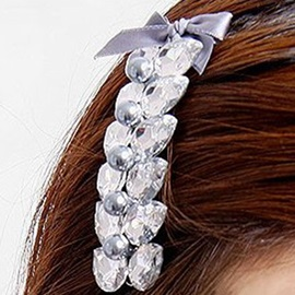 Bowknot Decorated Rhinestone Inlaid Wedding Hairpin