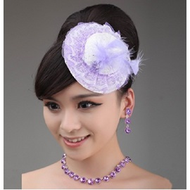 Enchanting Lilac Hat Shaped Headflower