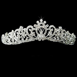 Graceful Sumptuous Alloy with Rhinestone Wedding Bridal Tiara