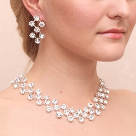 Gorgeous Rhinestone Wedding Jewelry Sets