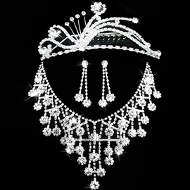 Korean Floral Necklace Jewelry Sets (Wedding)