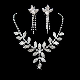 E-Plating Earrings Leaf Jewelry Sets (Wedding)