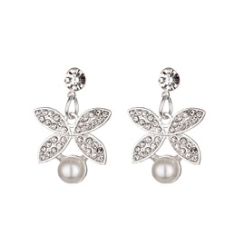 Earrings Pearl Inlaid European Jewelry Sets (Wedding)