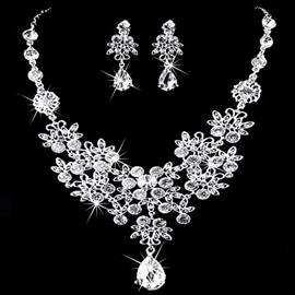 Korean Water Drop Earrings Jewelry Sets (Wedding)