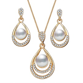 European Necklace Floral Jewelry Sets (Wedding)