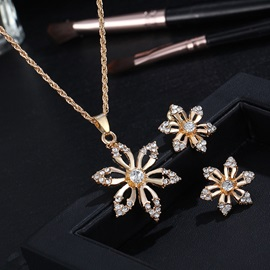 Earrings Diamante Korean Jewelry Sets (Wedding)