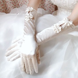Satin Bridal/Wedding Gloves with Cute Bowknots(3colors)