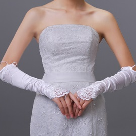 Lace Long Fingerless Wedding Bridal Glove