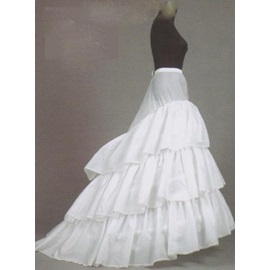 Charming White Court Train Wedding Petticoat