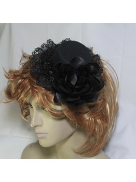Enchanting Black Lace Wedding Bridal Hats