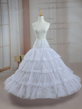 Free Size Four Hoops Wedding Petticoat