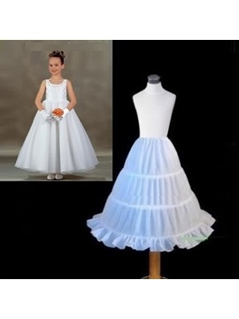 Lovely A-Line Three Steel Wires Flower Girl Petticots