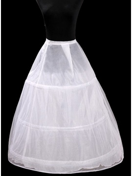 Polyster with Three Loops Steel Rings Wedding Petticoats