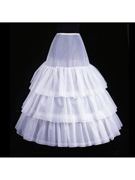 Three Layers Fluffy Organza Wedding Petticoats