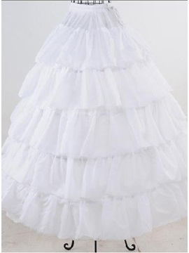 Splendid Five Layers with Steel Surpport Crinoline Ball Gown Wedding Petticoats