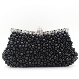 European Style Magnetic Snap Clutches&Evening Bag with Pearls