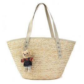 Casual Weave Rivet Women Tote Bag