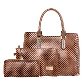 High Quality Serpentine 3 Pieces Women Bag Set