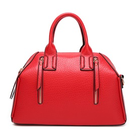 Special Design Double-zipper Women's Satchel