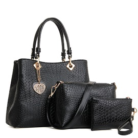 Fashion Embossing with Heart Pendant Women's Bag Set ( Three Bags )