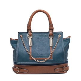 Popularity Color Leather Patchwork Women's Tote Bag