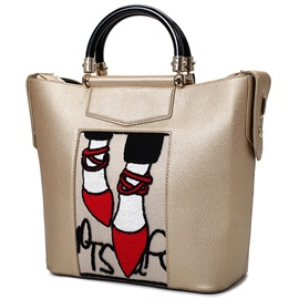 Red Shoes Pattern Bucket Tote Bag